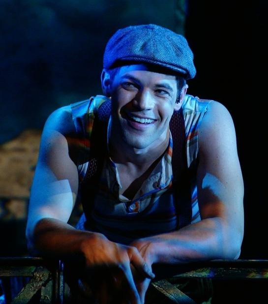 """Jeremy Jordan as Jack """"Cowboy"""" Kelly  Source: Broadway Wiz"""